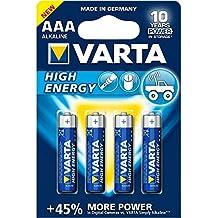 Varta High Energy Batterie AAA Micro Alkaline Batterien LR03 - 4er Pack