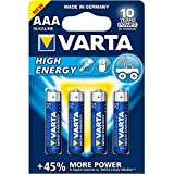 Varta High Energy AAA Micro LR03 Batterie (4er Pack)...