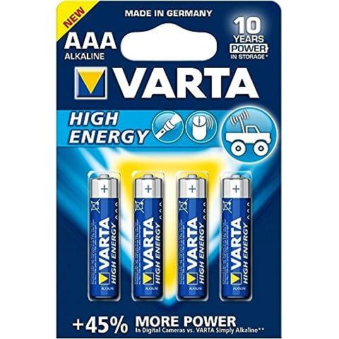 Varta High Energy AAA Micro LR03 Batterie (4er Pack) Alkaline Batterie