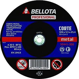 Bellota 50441-300 DISCO ABRASIVO MAQUINA ESTACIONARIA CORTE METAL 300MM