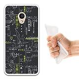 WoowCase Alcatel 1C DUAL SIM Hülle, Handyhülle Silikon für [ Alcatel 1C DUAL SIM ] Grüne mathematische Formeln Handytasche Handy Cover Case Schutzhülle Flexible TPU - Transparent