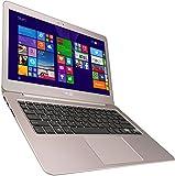 Asus Zenbook UX305FA-FB128T 33,8 cm (13,3 Zoll QHD+) Notebook (Intel Core m 5Y10, 8GB RAM, 256GB SSD, HD Graphic, Win 10 Home) titanium gold