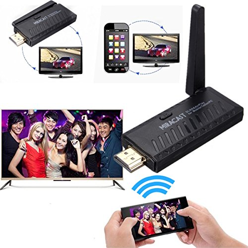 Wifi Display, M.Way Wireless Miracast Display TV Dongle Empfänger 1080P HDMI Miracast Dongle DLNA Airplay WiFi Display-Empfänger für iPhone / Android Smartphone / Tablet-PC USW