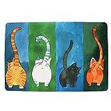 WOOD MEETS COLOR creativo felpudos durable de felpa alfombra de casa 15,7 (W) X 26,6 (L) pulgadas (4 gatos 40*60)