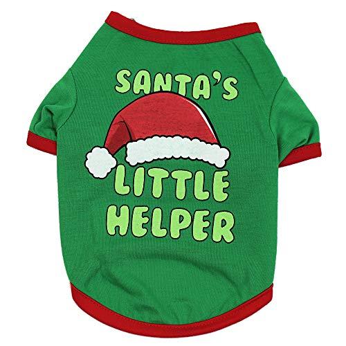 VENMO Weihnachten Hundebekleidung Polyester T Shirt Puppy Kostüm Hündchen Hund Kleidung Weiches Pullover Kostüm Hundemantel Haustier Hoodie warme Sweatshirts Puppy Coat - Grüner Hoodie Weihnachten Kostüm