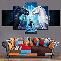 mmwin Abastract Home Decoative Living Room 5 Pieces HD Print Painting How To Train Your Dragon Modern Wall Art Type Poster