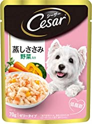 Cesar Adult Wet Dog Food (Gourmet meal), Sasami & Vegetables, 16 Pouches (16 x