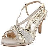 XTI 30679, Sandalia con Pulsera para Mujer, Dorado (Gold), 38 EU