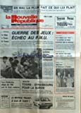 nouvelle republique la no 12353 du 24 05 1985 guerre des jeux echec au pmu le liban a l heure de damas par bonnet la puissance syrienne derriere les combats de beyrouth les sports la nouvelle peugeot jean foyer du parlement a l institut la roche sur yon une erreur provoque 2 morts a l hopital le dr diallo le rapport de police n apporte rien de nouveau