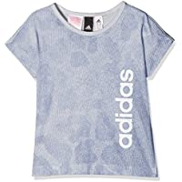 Adidas Yg Linear P tee Camiseta, Niñas, (aeroaz/azutiz/Blanco), 116 (5/6 años)