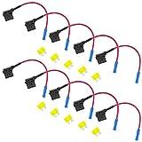 10er Flachsicherungsadapter Autosicherungen Stecksicherung Steck Sicherung Verteiler Anschlußkabel