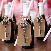 AerWo 10pcs abrelatas de botella de esqueleto escort Tag de la boda de tarjeta de favores