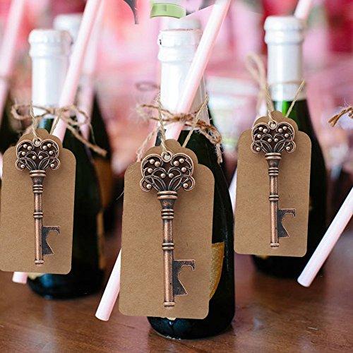 AerWo 10pcs Skeleton Schlüssel Flaschenöffner Escort Tag Karte Hochzeit Bevorzugungen für Gäste Party Supplies (Style 4) (Baby-dusche-bevorzugungen Vintage)