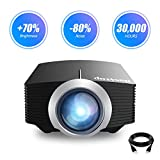Projector, Basstop Portable Mini Multimedia Home LED Projector Support 1080P for Home Theater Support HD 1080P HDMI VGA AV USB Laptop iPhone/iPad Smartphone TV Stick Xbox, 2018 Newest Upgraded(YG-500)