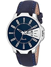 Snapcrowd Amazing Stylish Sport Look Date & TIME Blue Dial Stylish Blue Leather Strap Analog Watch For Men & Boys