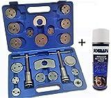 JOMAFA - Kit reposicionador de pistones de freno 22 piezas + limpiador de frenos