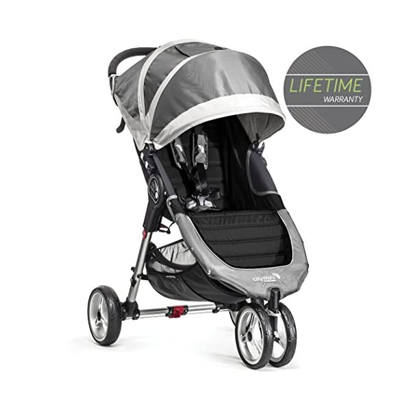 Baby Jogger City Mini Single Stroller Steel Grey Baby Jogger Suitable from birth, the City Mini Stroller is the essence of urban mobility: Lightweight, compact and nimble, its sleek and practical design makes it an ideal choice for traversing the urban jungle Lift a strap with one hand and the City Mini folds itself: Simply and compactly, it really is as easy as it sounds and the auto-lock will lock the fold for transportation or storage The fully reclining with vents and a retractable weather cover to make sure that your child is comfortable and safe as they watch the world go by the SPF 50+ hood canopy has two peek-a-boo windows so you can keep an eye on your precious cargo 1