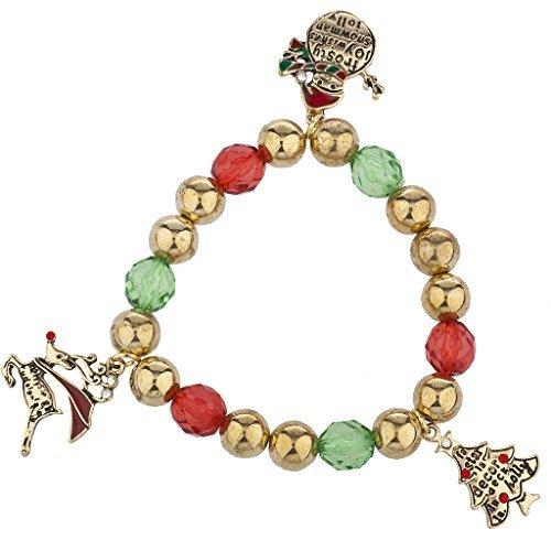 LUX Zubehör Weihnachten gold Ton Urlaub Xmas Tree Schneemann Rentier Armband