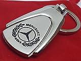 Schlüsselanhänger mit Auto-Logo 'Mercedes Benz', A-, B-, C-, E-, M-Klasse SLK, aus Metall, mit Geschenkbeutel (S2)