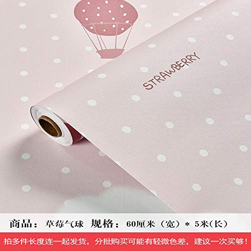 lsaiyy Mädchen Wallpaper Warm Pink Girl College Schlafzimmer Sticker Tapete-60CMX5M - Wallpaper Hot Rod