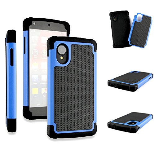 Bracevor Triple Layer Defender Hybrid Back Case Cover for LG Google Nexus 5 - Blue  available at amazon for Rs.299