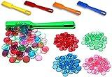 Profi Bingo Chips Komplett Set: 400 Stück, magnetisch & transparent | Inklusive Magnetstab | Spiele-Chips mit Magnet-Rand in verschiedenen Farben - grün