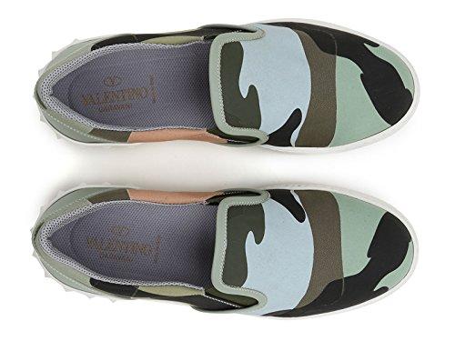 Basket slips-on Valentino homme en tissu camouflage - Code modèle: KY0S0835 TPR E55 couleur Camouflage