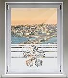 INDIGOS UG Sichtschutzfolie Glasdekorfolie Fensterfolie mit Motiv satiniert Blickdicht - E1072 Schönheit Tribal ok - 1000 mm Länge - 500 mm Höhe Streifen