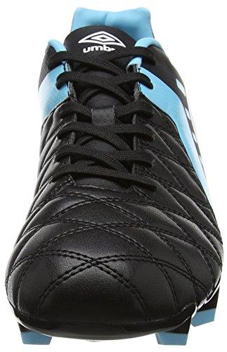 Umbro Medusæ II Club HG, Chaussures de Football Homme Noir (Black / White / Bluefish)