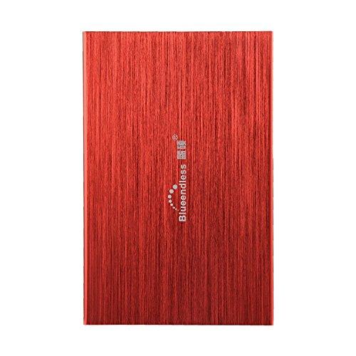 Disco duro externo portátil Bluendless de 25 pulgadas 250 GB USB 20 Ideal para ordenador portátil de escritorio rojo rosso 500 gb