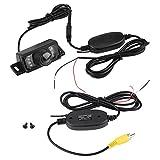 KIMISS IR 170° Gran Angular LED Kit de Cámara de marcha atrás del coche & RCA Transmisor de video inalámbrico & Receptor para 12V vehículos [versión nocturna]