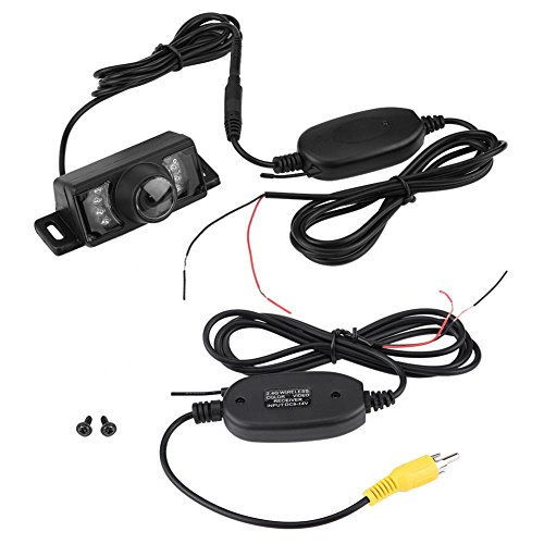 Keenso Rückfahrkamera Wireless Sender 7 stücke LED Wireless Auto Rückfahrkamera Nachtsicht IR Wireless RCA Video Sender & Empfänger Wireless-ir-stereo