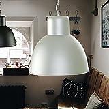 gutewareguenstigeware Elegante moderne Fabrik Industrielampe - Pendelleuchte - Hängelampe - Deckenlampe - Loft Lampe im Retro/Industrie Design Farbe: Elfenbein creme lackiert