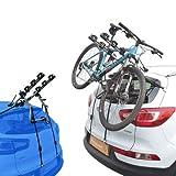 EMMEA PORTABICI Posteriore Auto 3 Bici Regolazione Cinghie Biciclette Compatibile con Honda Jazz 5P (08-14) Alluminio CARICO Max 45KG Protezione TELAI Verona Alu
