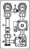 Oventrop Kessel-Anbindesystem Regumat M3-180 DN 25 mit Grundfos-Pumpe ALPHA2 25-60