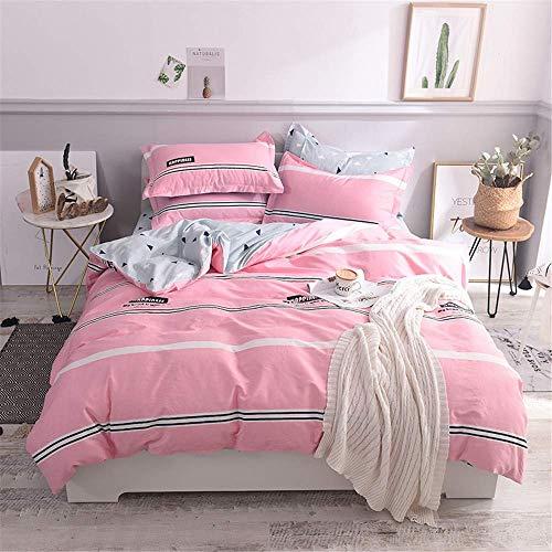 KOOV 4 Stück Bettbezug-Set Tröster Cover, 100% Baumwolle, Bettbezug, 2 Bettbezug, 1 Bettlaken, 1 Kissenbezug, Soft & Extrem Durable Hotel Quality, Aufblenden und Fleck beständig. -