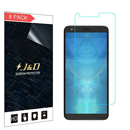 J und D Kompatibel für 8er Set Sharp AQUOS B10 Bildschirm Schutzfolie, [Nicht Ganze Deckung] Premium HD-Clear Schutzfolie für Sharp AQUOS B10 - [Nicht kompatibel mit AQUOS C10]