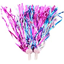 Childrens Bike Handlebar Streamers /Bicycle Grips Sparkle Retro Pom Pom Tassels /Trike Scooter Handgrip Colorful Ribbons /Baby Carrier Accessories