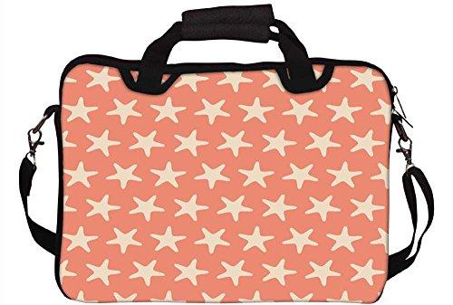 Hp Sterne (Snoogg mehrere Sterne orange Muster Laptop Netbook Computer Tablet PC Schulter Case mit Sleeve Tasche Halter für Apple iPad/HP TouchPad Mini 210/Acer Aspire One und die meisten 24,6cm 25,4cm 25,7cm 25,9cm Zoll Netbook Tablet PC)