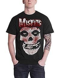 MISFITS T Shirt Blood Drip Jarek Skull Band Logo Official Mens Black