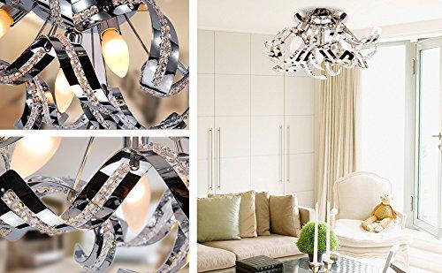 Plafoniera Cristallo Led : Plafoniera led soffitto lampadario soggiorno cristallo
