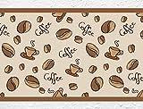 """I-love-Wandtattoo b-10074 Küchenbordüre """"Coffee - Kaffeebohnen und Kaffeetassen"""" Bordüre Küche"""
