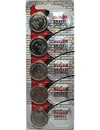 Maxell CR2032-B5MXLBlister Pack of 5 CR-2032 LithiumButton Batteries - 3V