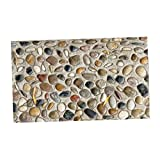 Fenteer 3D Granitbrocken Holzoptik Boden Aufklber Wandaufklelber für Balkon Zimmer Küche - # 2