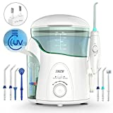 Irrigador Dental con UV Esterilizador, THZY Water Flosser Irrigador Bucal Impermeable Water Jet...