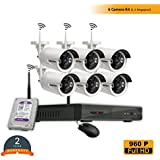 ROBORIX 6 Camera Wireless Wifi IP 8 Channel NVR 1MP 720p HD CCTV Security Camera Kit