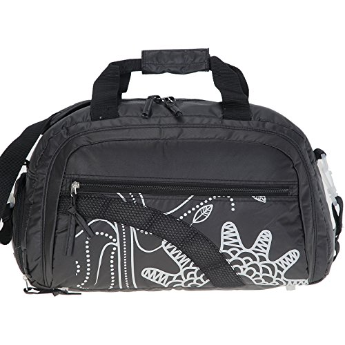 ALESSANDRO Fashion SOFT 42 cm Sporttasche mit Schuhfach (nasses Handtuch Fach) Schulsporttasche Fitnesstasche Sport Tasche / Black (Schwarz)