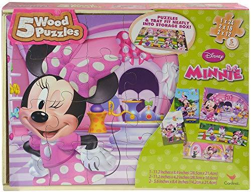 Sambro Minnie Maus Holzpuzzle mit Schleife (3 Stück)