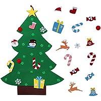 Gosear Fai Sentito Natale Albero Decorazione Natale Partito Parete Appeso Ornamento per Bambini Regalo Casa Ufficio Negozio Finestra Decor (B2)