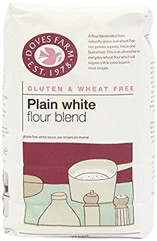 Doves Farm Gluten De Blé Et De Farine Blanche Plaine Sans Mélange 1 Kg - Paquet de 6